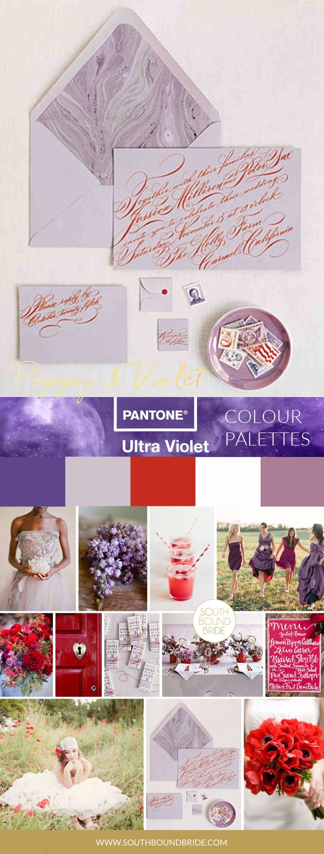 Pantone Colour of the Year 2018: Ultra Violet Inspiration Boards | SouthBound Bride