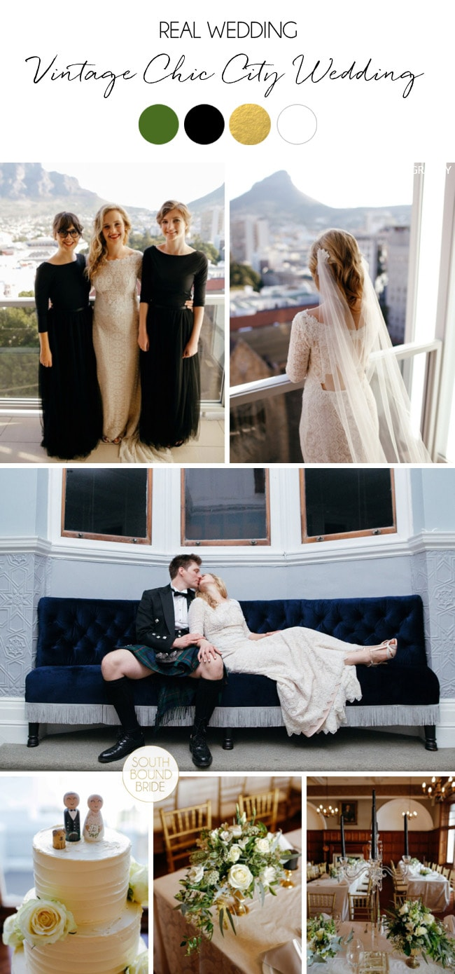 Vintage Chic City Wedding at the Cape Town Club by Duane Smith | SouthBound Bride
