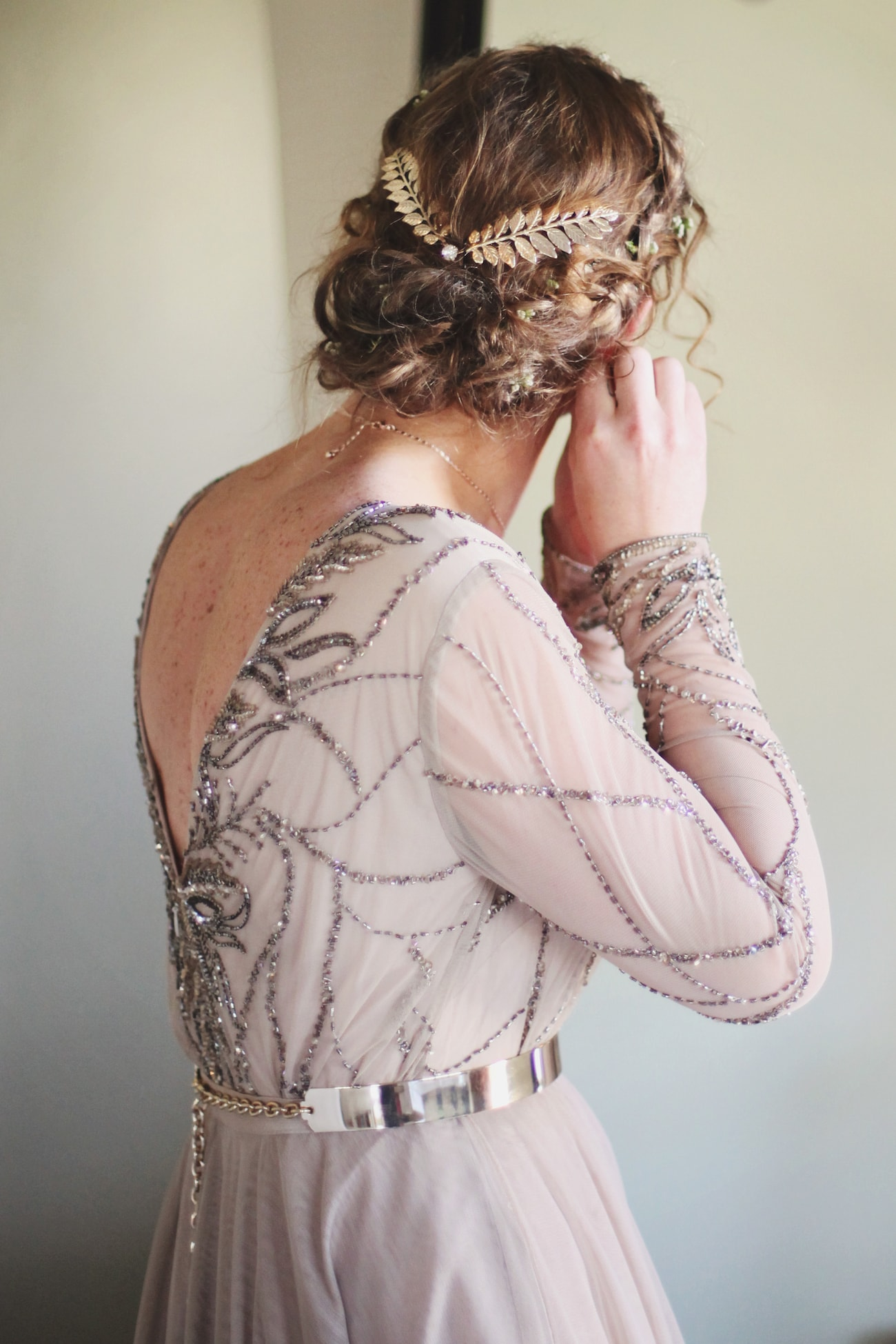Boho Wedding Dress with Romantic Updo | Credit: Carmen Roberts (3)