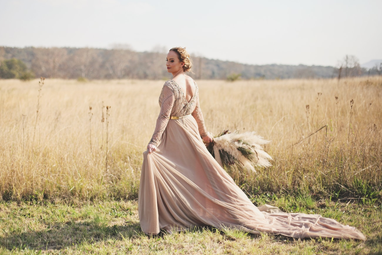 Mocha Embellished Wedding Dress | Credit: Carmen Roberts (4)