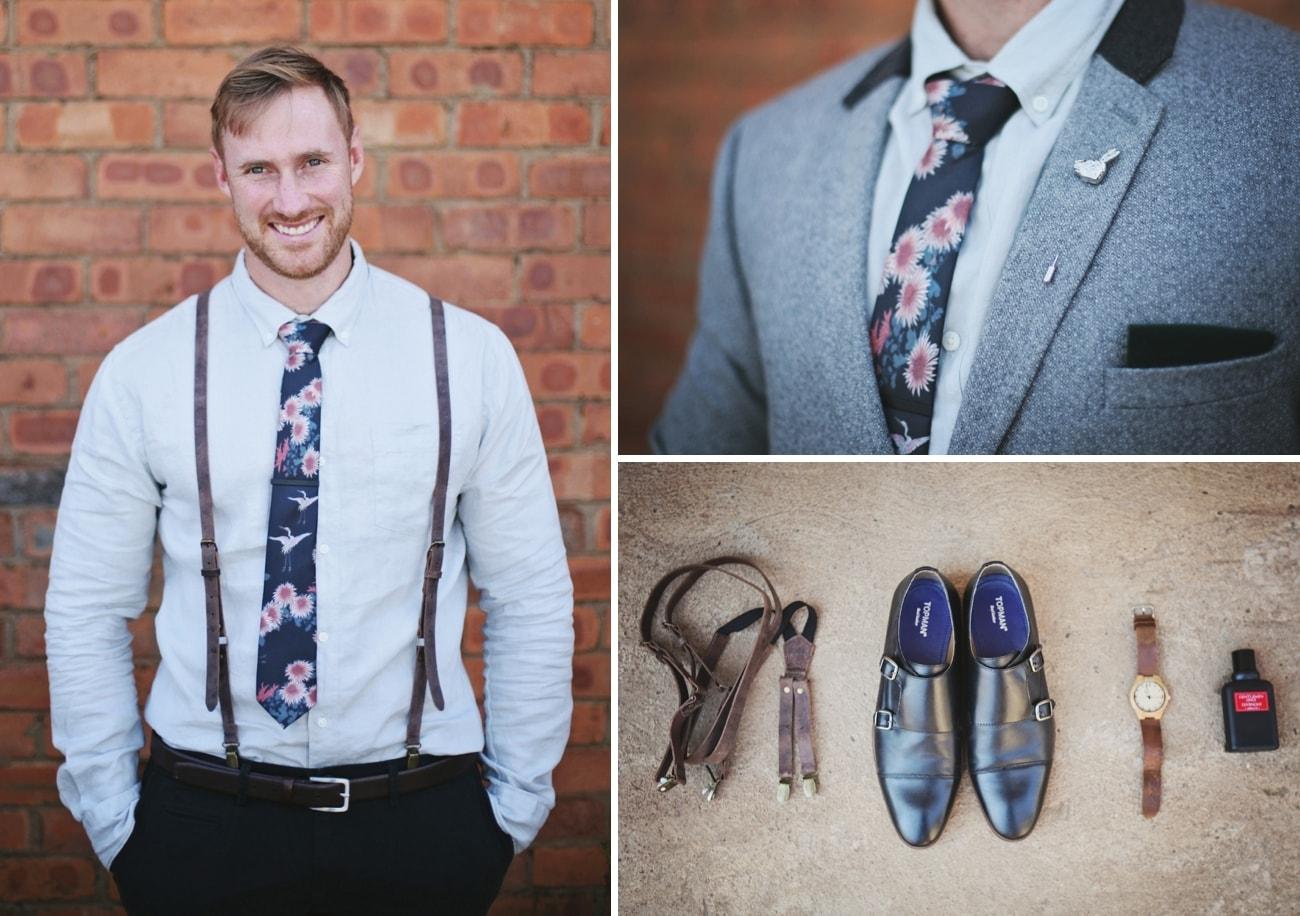 Floral Groom's Tie | Credit: Carmen Roberts (6)