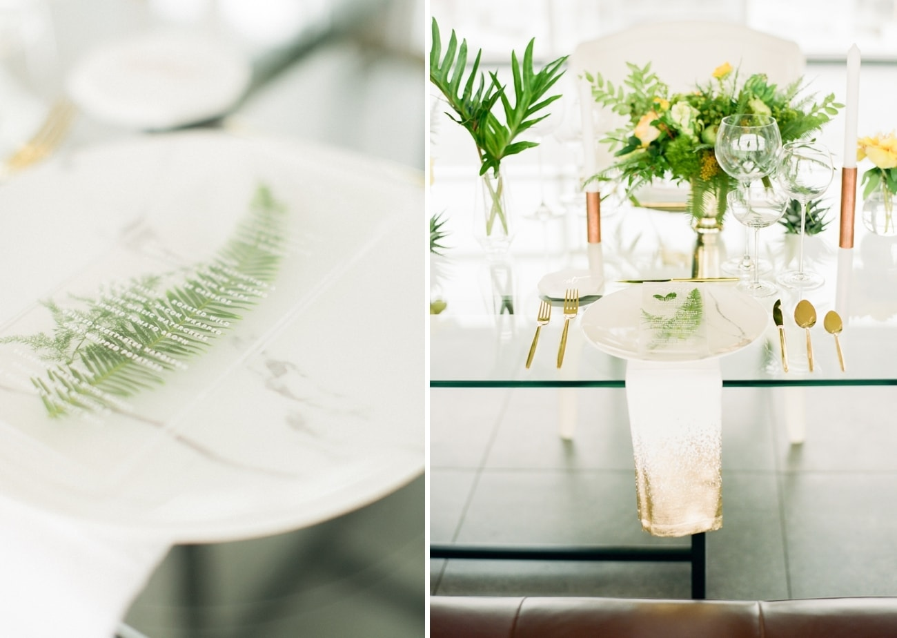 Lucite & Marble Table Decor | Credit: Ruth Eileen Photography