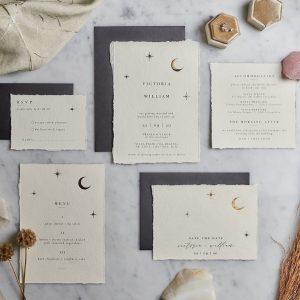 celestial wedding invitations