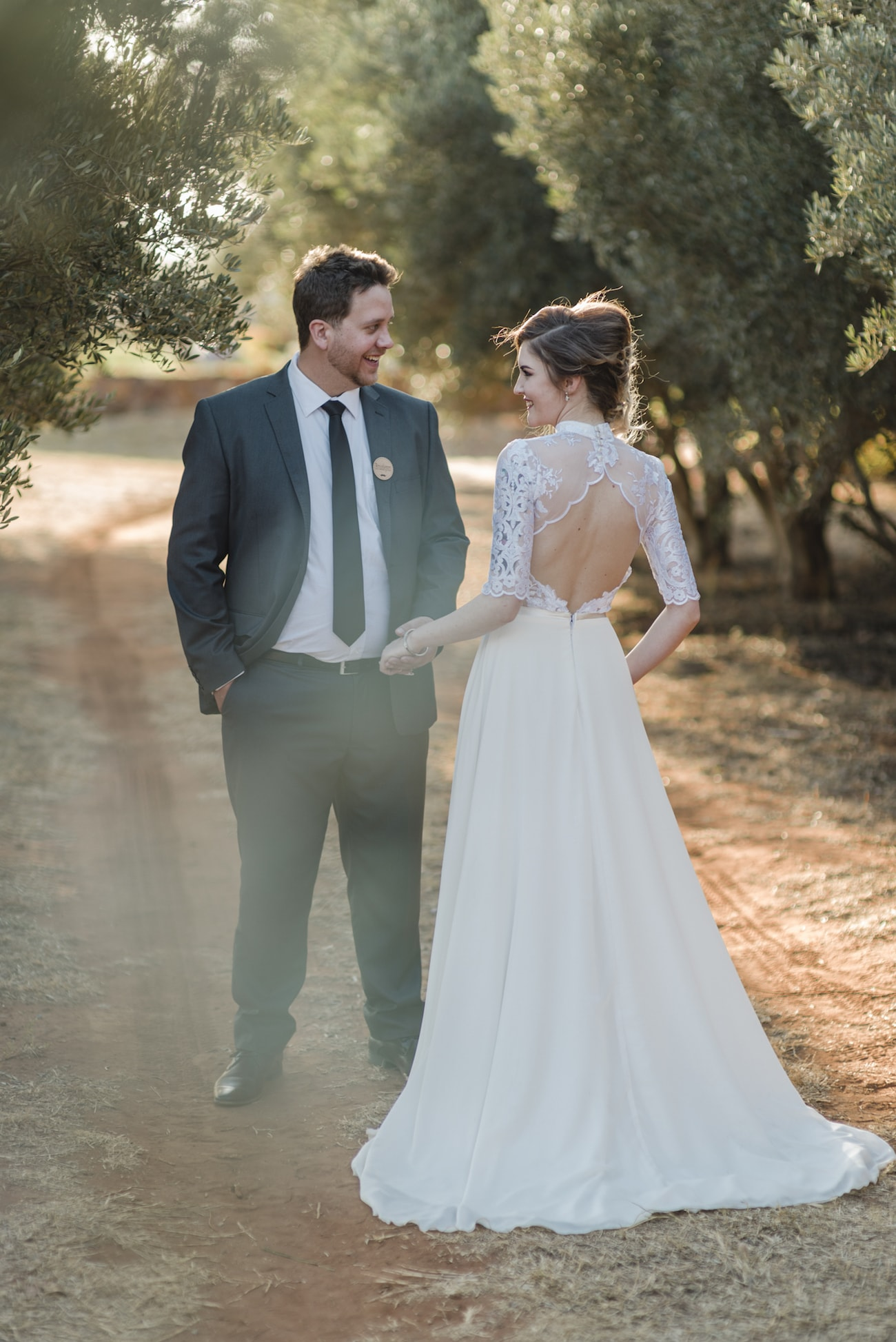 Lace Keyhole Back Wedding Dress | Credit: Wynand van der Merwe (15)