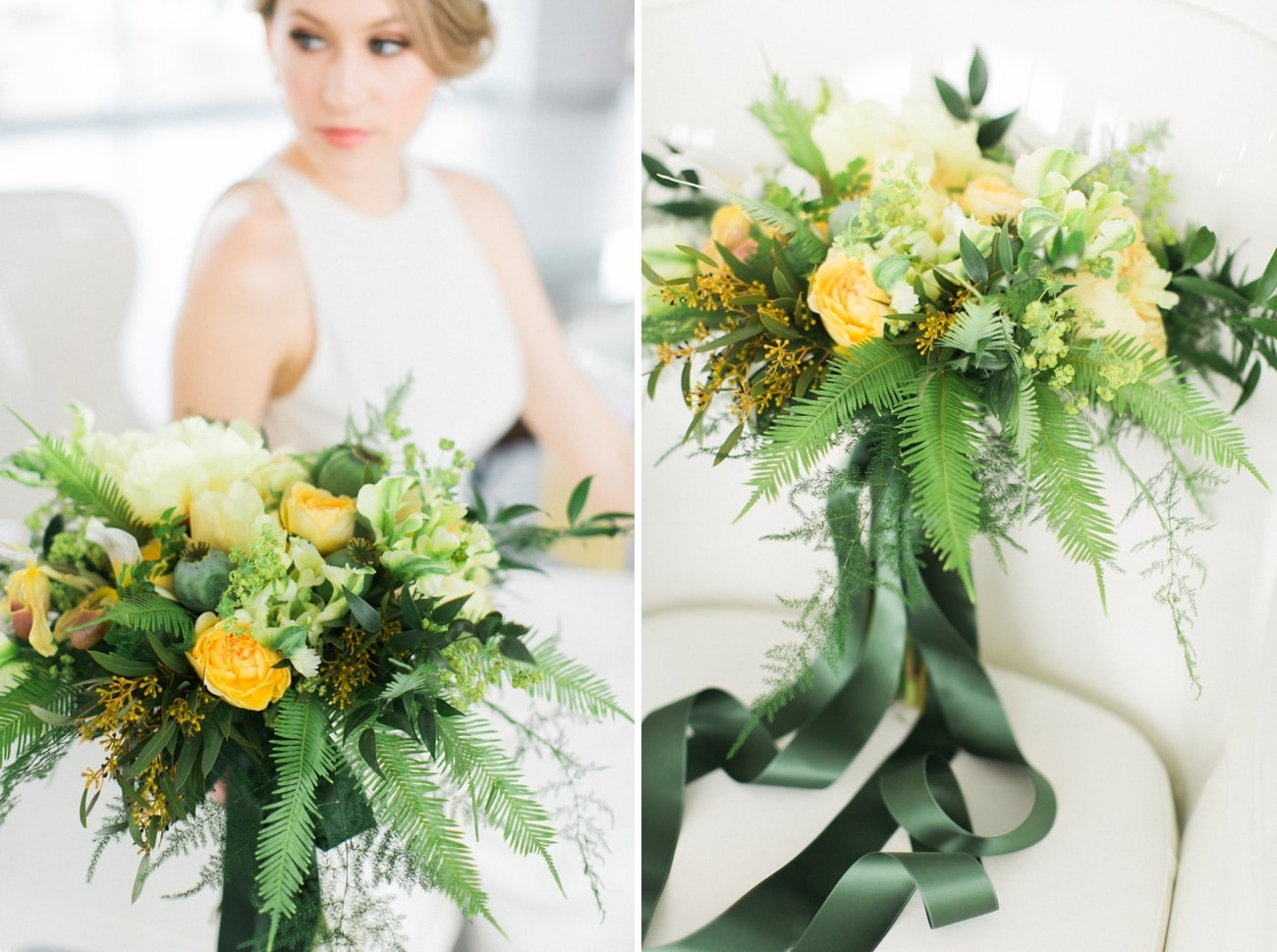 Green and Yellow Bouquet | Credit: Ruth Eileen Photography