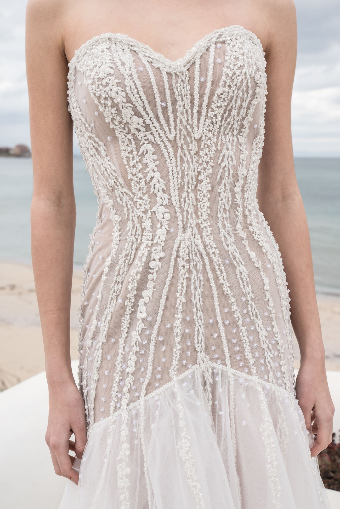 20 Chic Amp Sheer Wedding Dresses From Etsy Southbound Bride