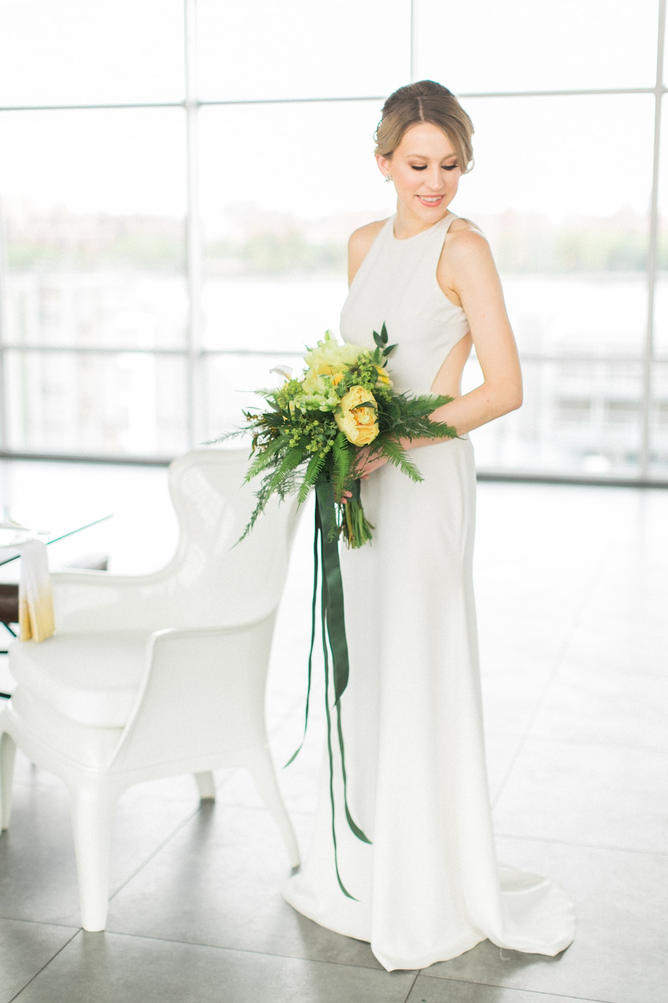 Backless Sarah Seven Wedding Dress | Credit: Ruth Eileen Photography