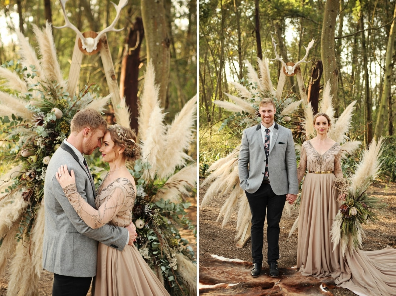 Boho Luxe Forest Wedding | Credit: Carmen Roberts (21)