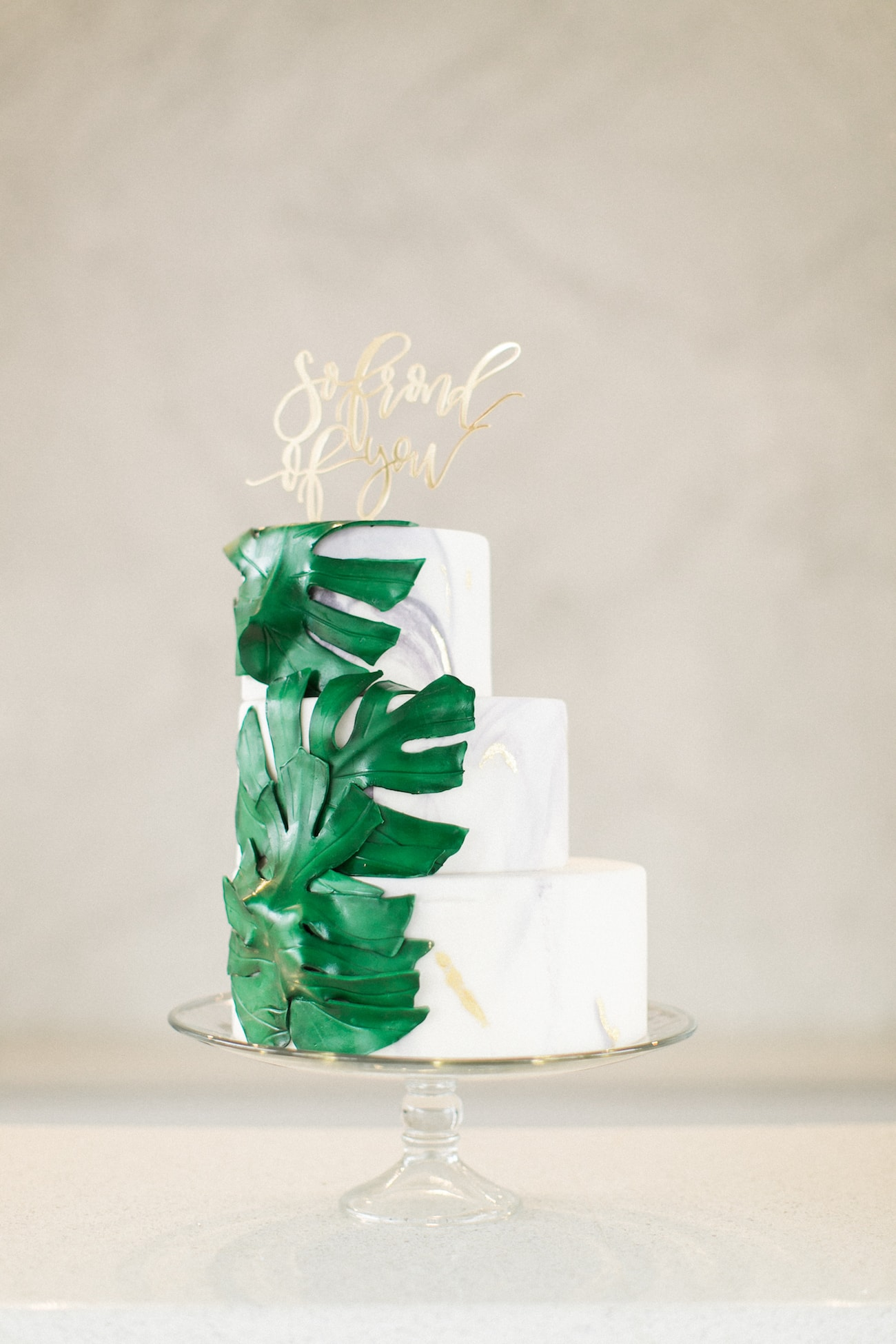 Delicious Monster Tropical Wedding Cake | Credit: Ruth Eileen Photography