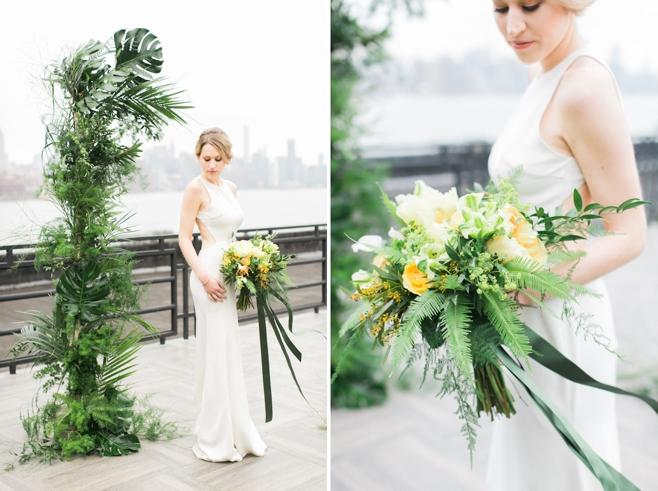 Tropical Greenery Wedding Decor | Credit: Ruth Eileen Photography