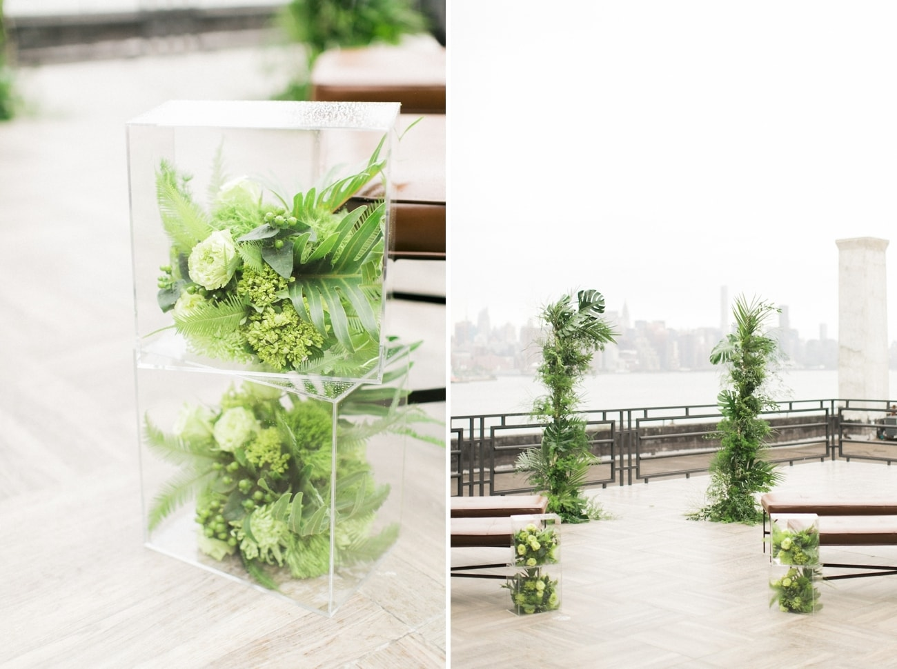 Plexiglass Perspex Wedding Ceremony Decor | Credit: Ruth Eileen Photography