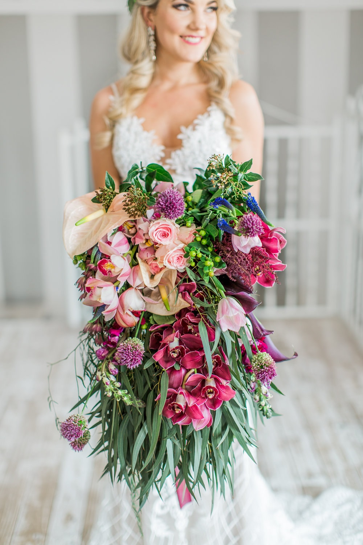 Lush Cascade Bouquet | Image: Grace Studios