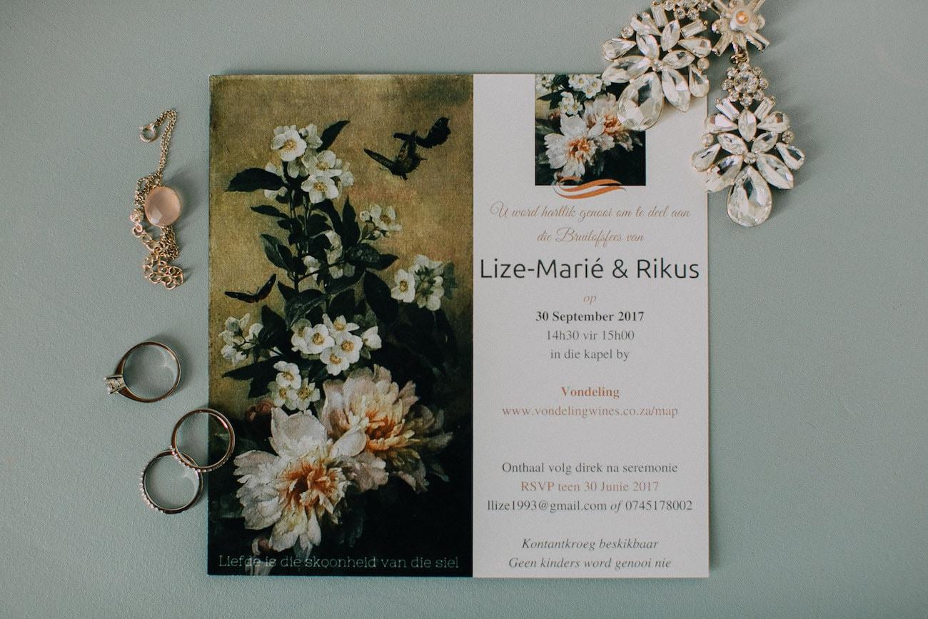 Botanical Painting Wedding Invitation | Image: Michelle du Toit