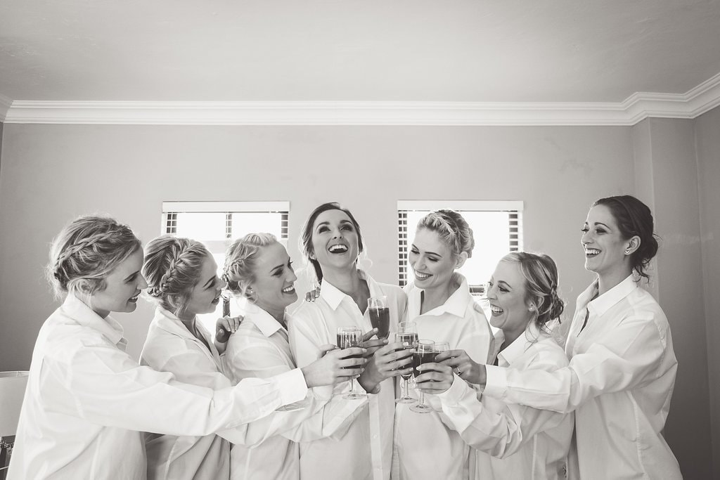 Bridesmaids in Shirts Leisurewear | Image: The Shank Tank