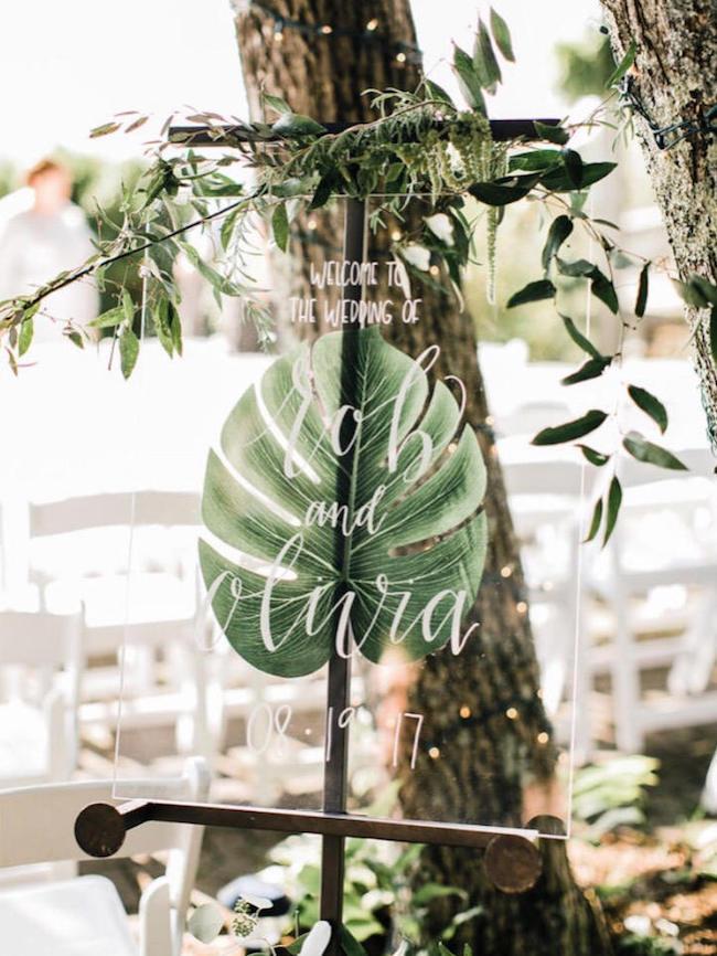 Transparent Wedding Signs