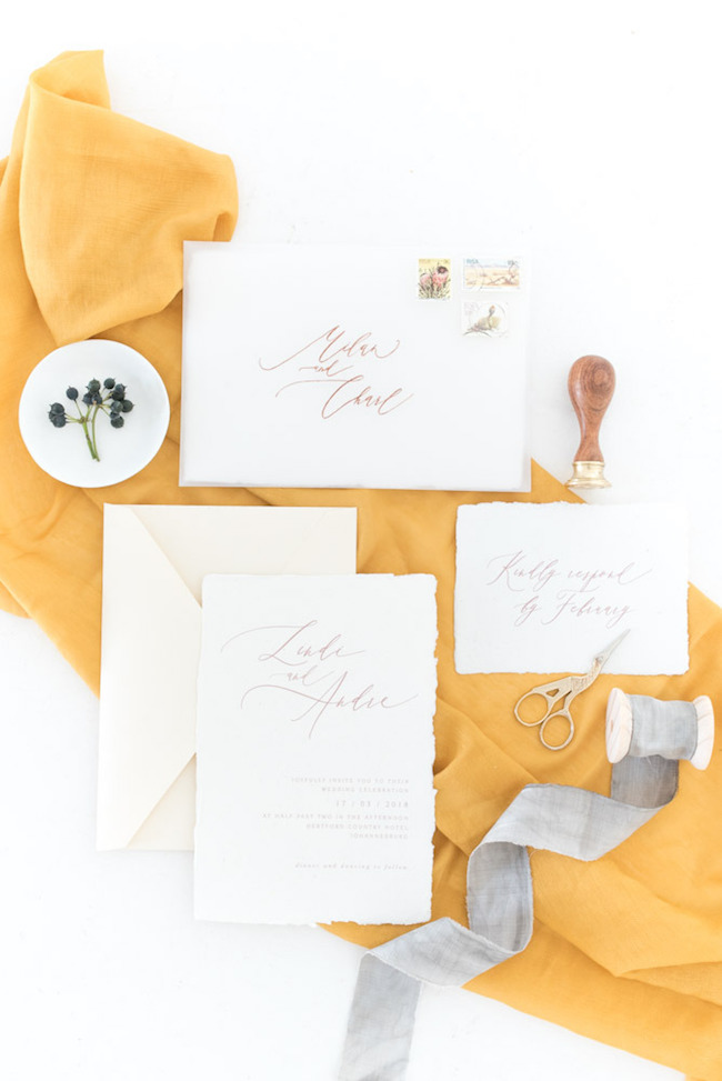 Fall Invitation Suite | Image: Cara Faye Weddings