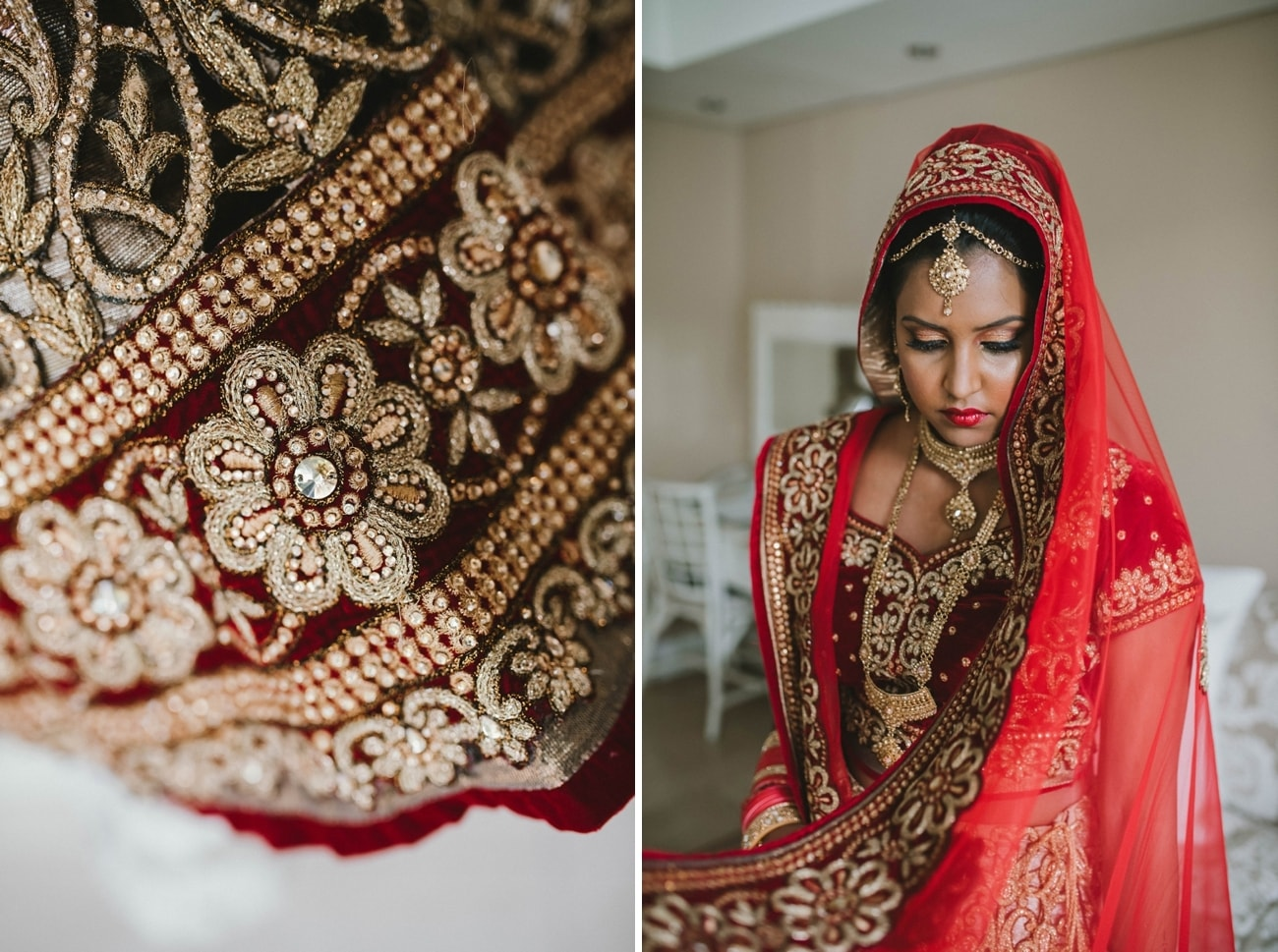 Bridal Lehnga for Traditional Hindu Wedding at the 12 Apostles Hotel | Image: Claire Thomson