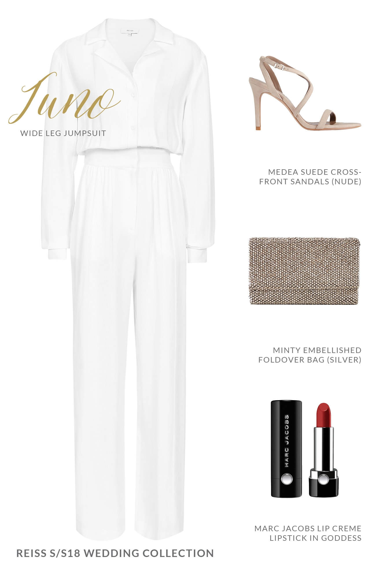 White Jumpsuit for Female Wedding Guests