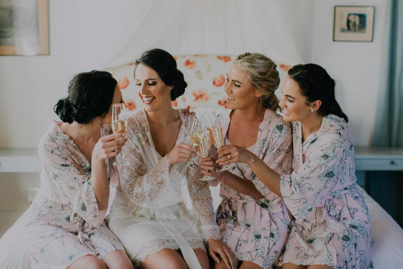 Botanical Bridesmaid Robes | Image: Michelle du Toit