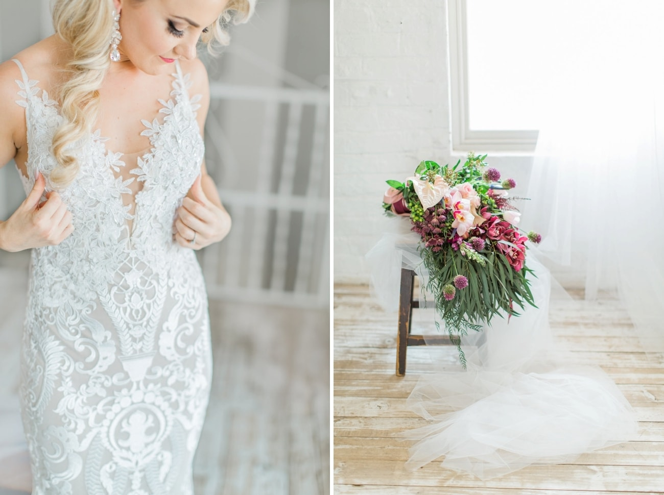 Nude Lace Wedding Dress | Image: Grace Studios