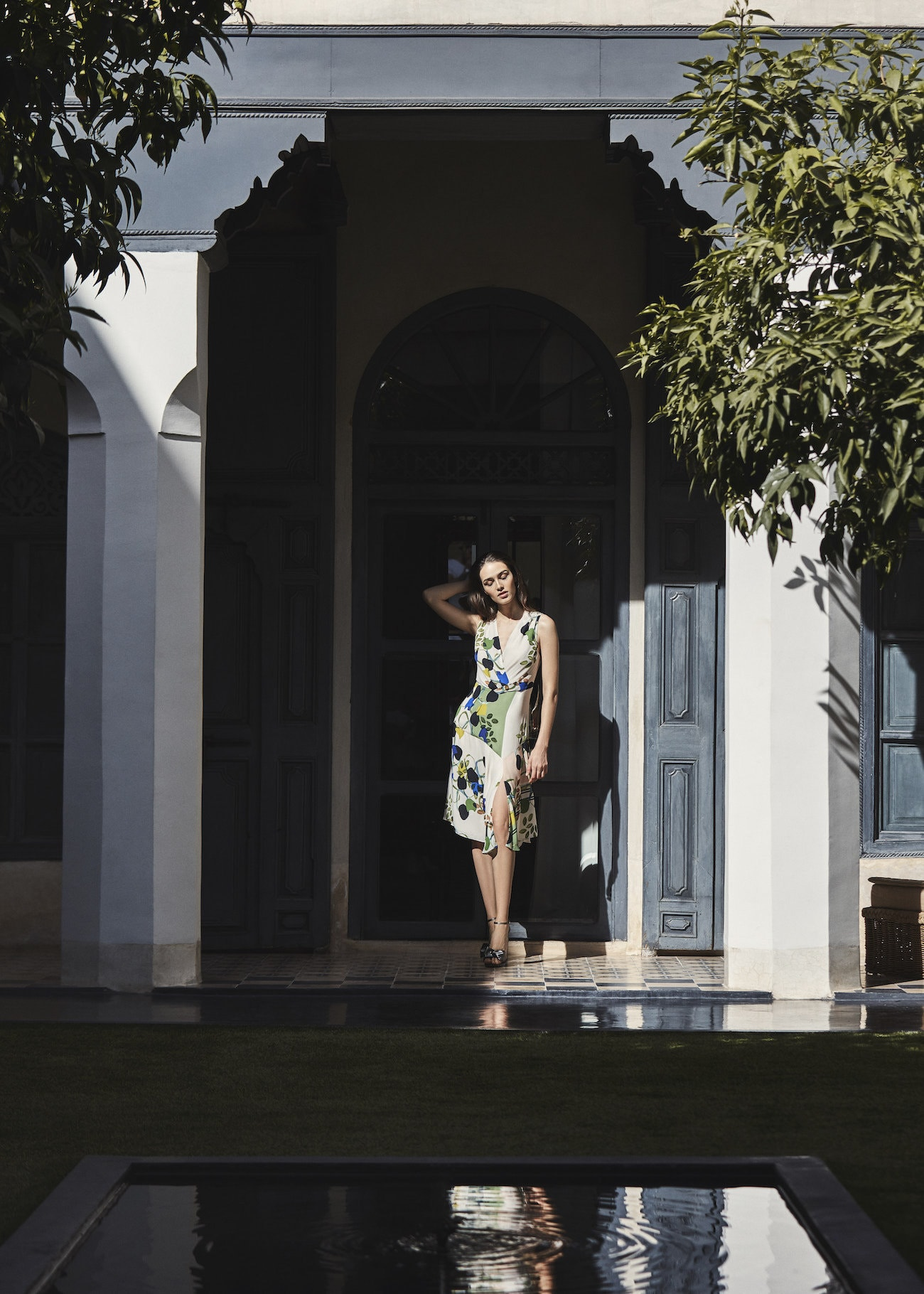 Reiss Magnolia Floral Printed Dress for Wedding Guest