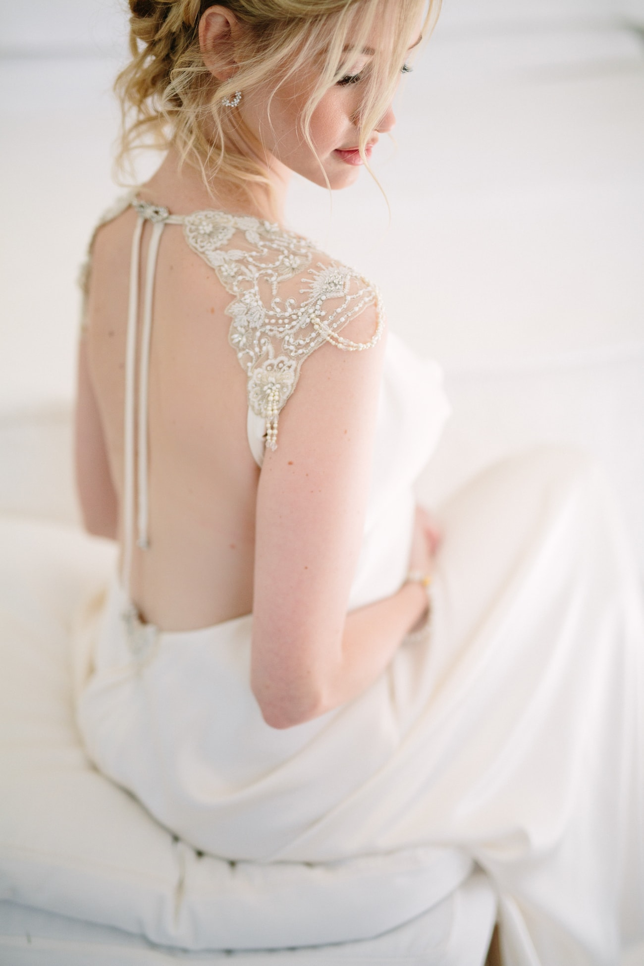 Backless Gwendolynne Wedding Dress | Image: Tasha Seccombe