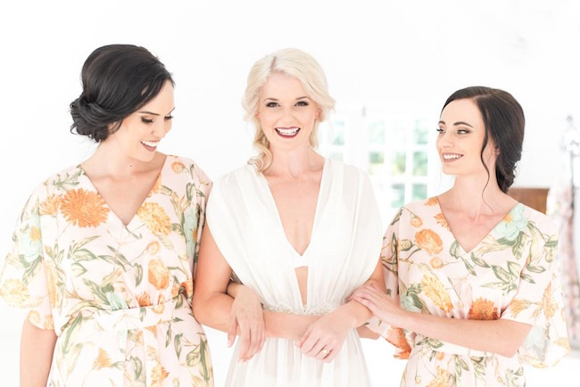 Bride & Bridesmaids Robes | Image: Cara Faye Weddings