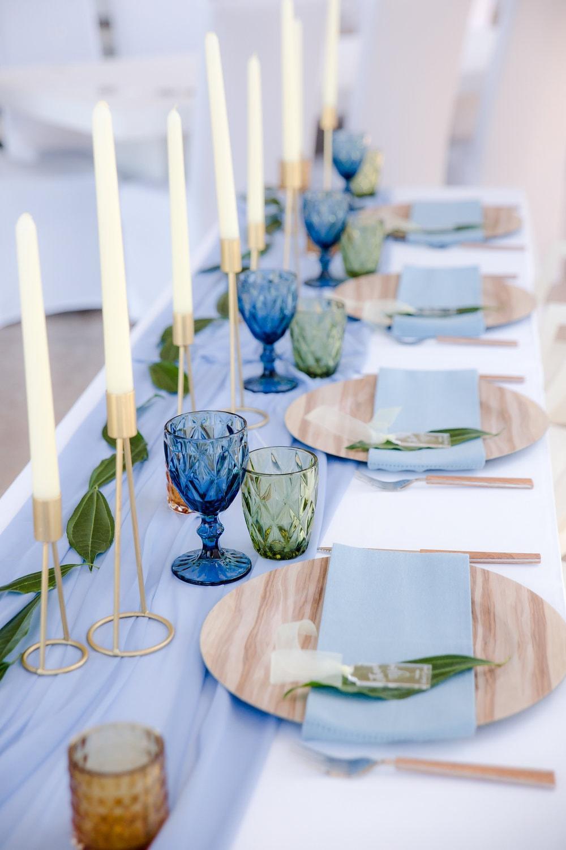 Blue & Green Table Decor   Image: Jaqui Franco