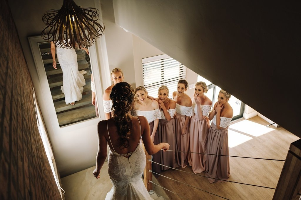 Bride to Bridesmaids Dress Reveal | Image: The Shank Tank