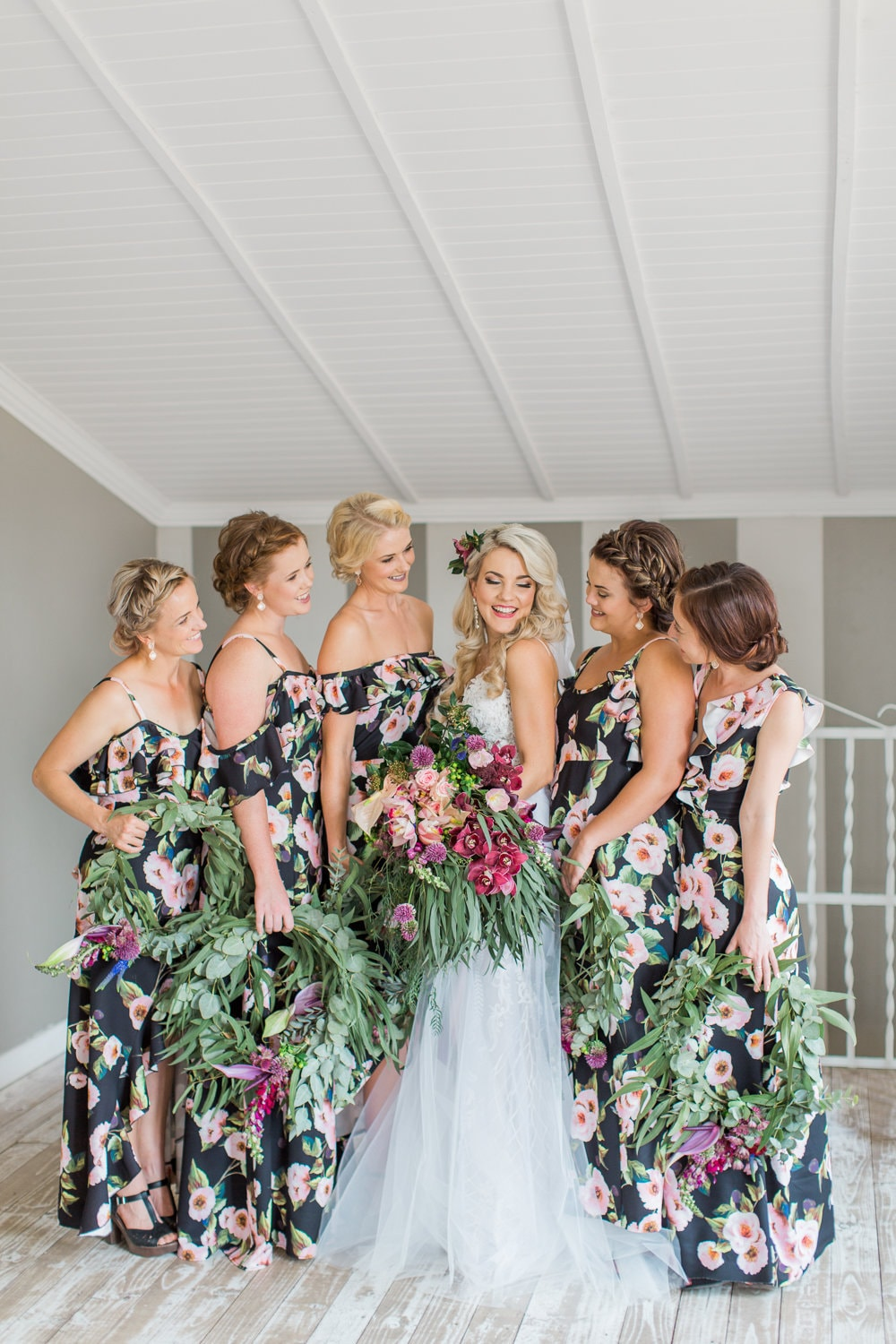Floral Bridesmaid Dresses | Image: Grace Studios
