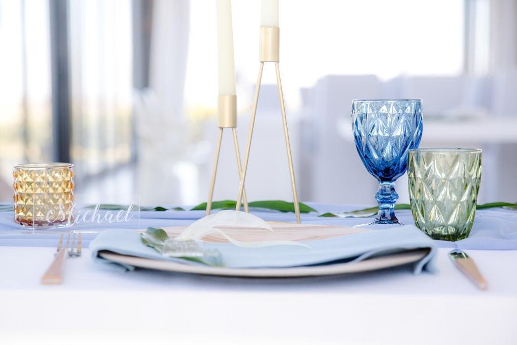 Blue & Green Place Setting | Image: Jaqui Franco