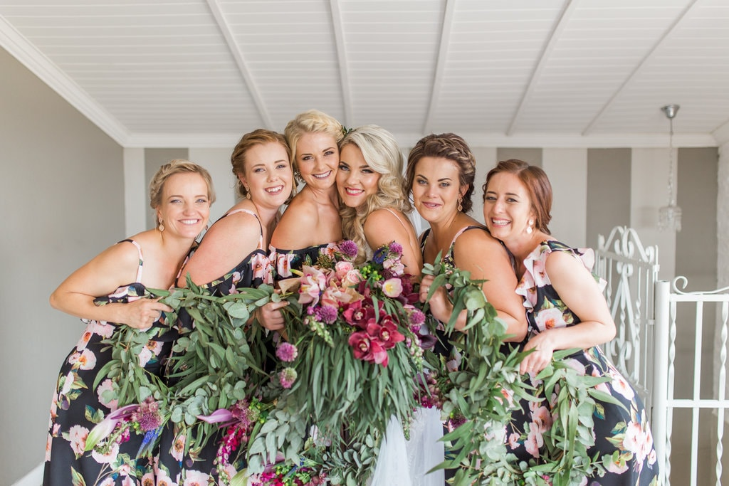 Bridesmaid Florals | Image: Grace Studios