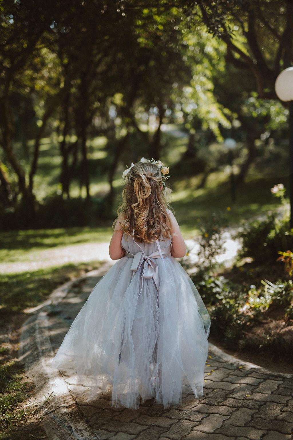 Cute Grey Flower Girl Dress | Image: Jessica J Photography
