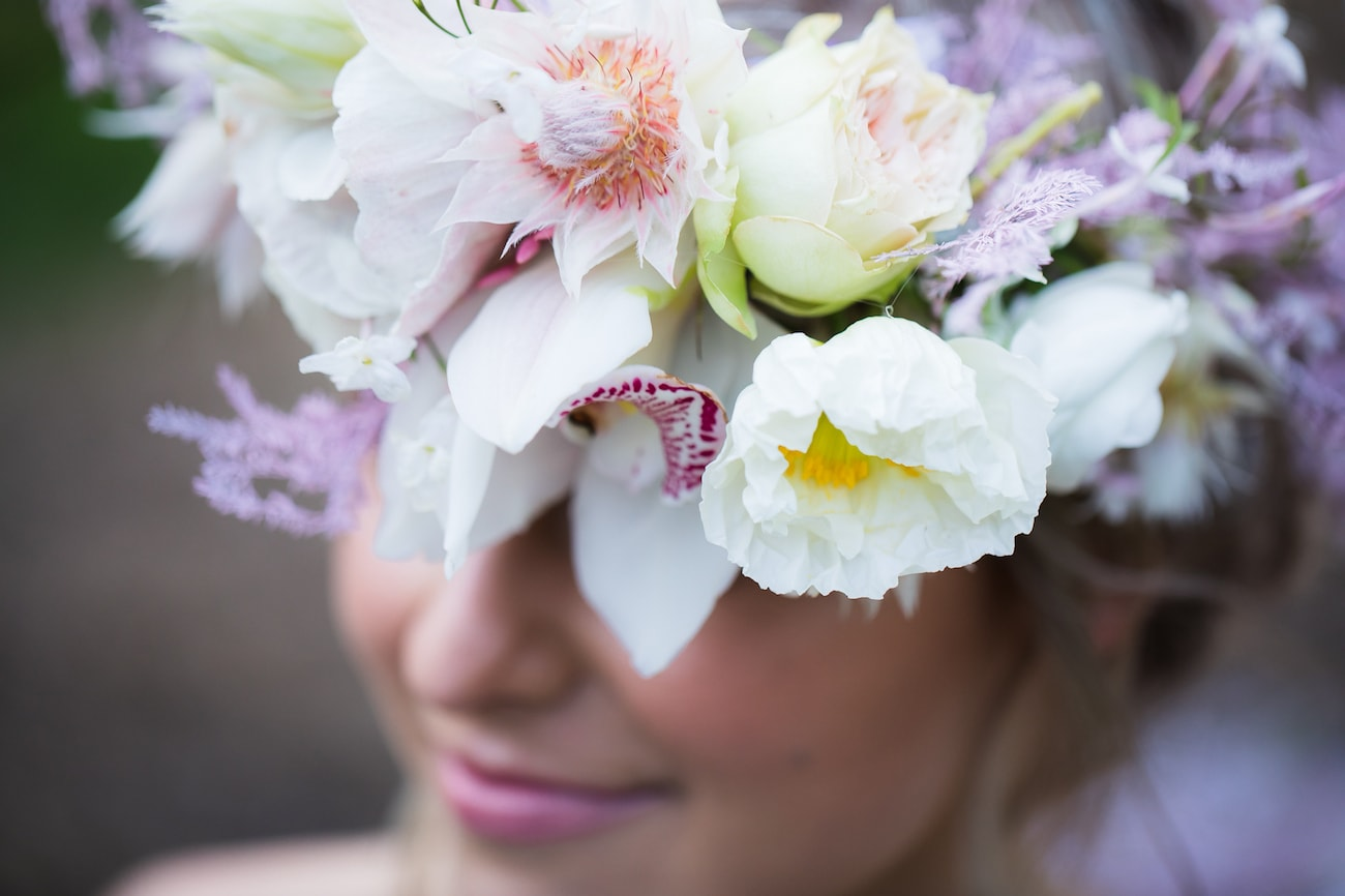Orchid & Blushing Bride Floral Crown | Image: Sulet Fourie