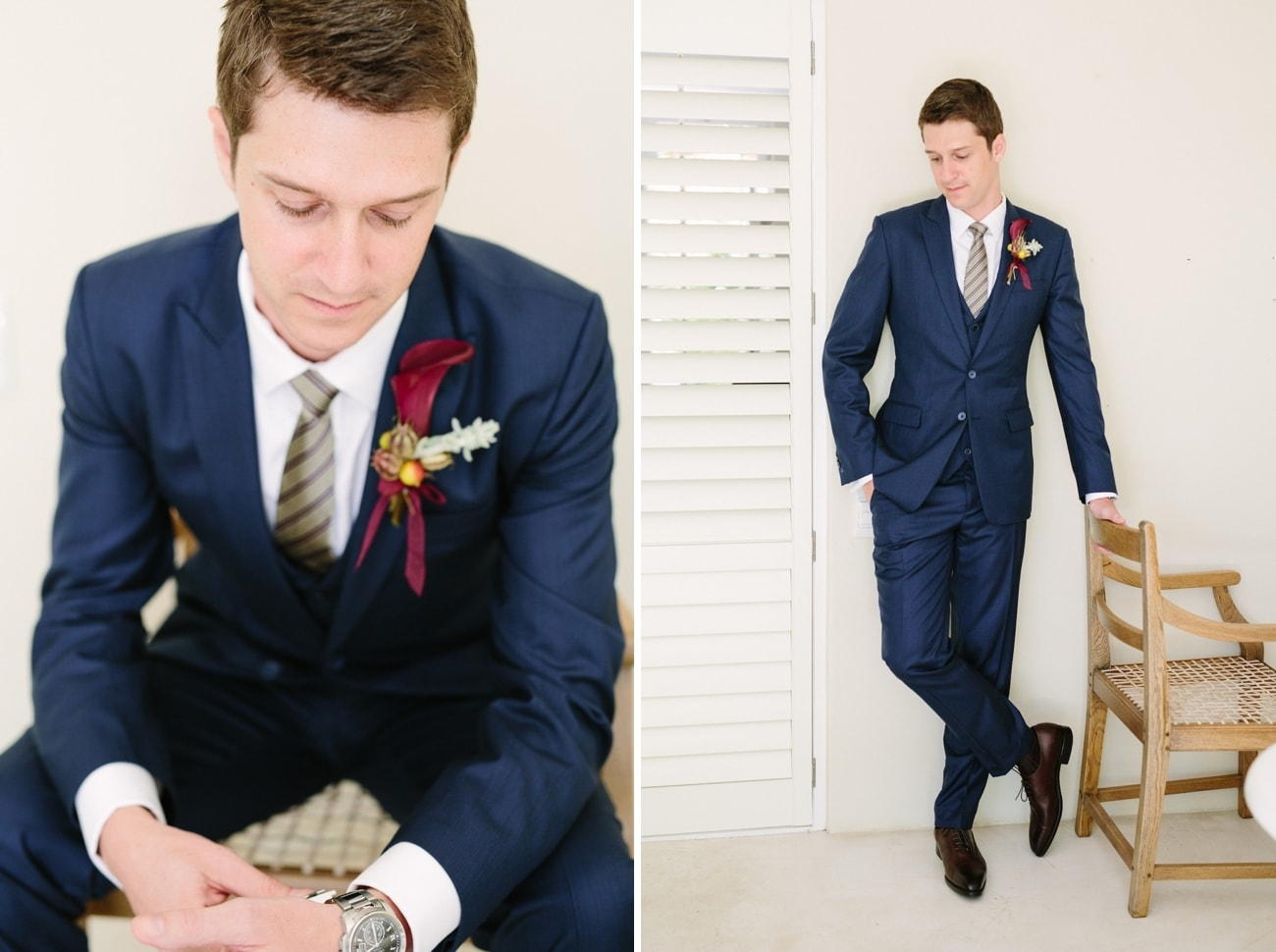 Navy Blue Groom's Suit | Image: Tasha Seccombe