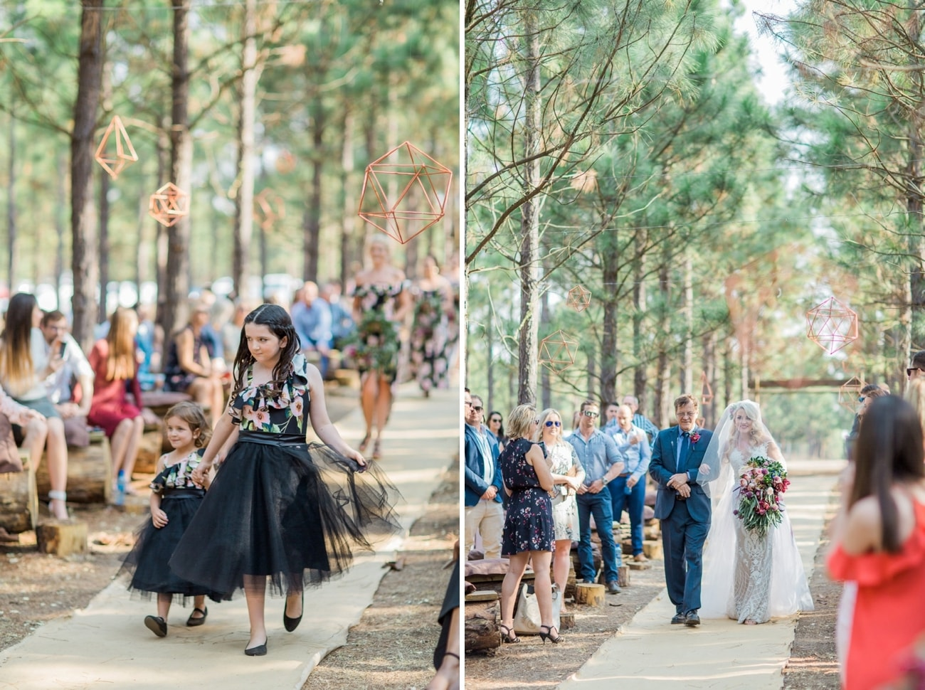 Forest Wedding Ceremony | Image: Grace Studios