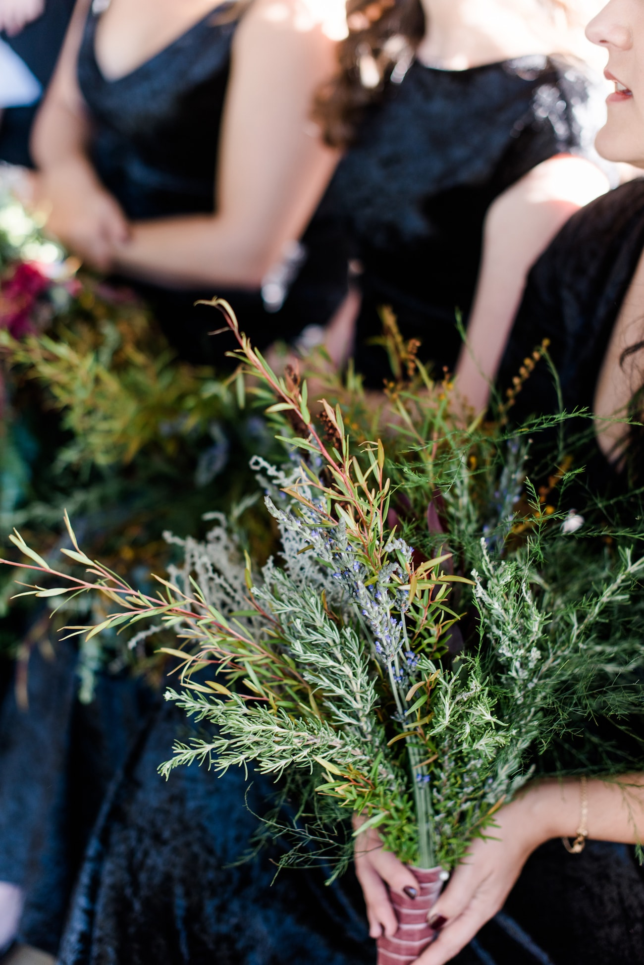Herb Bridesmaid Bouquets | Image: Roxanne Davison