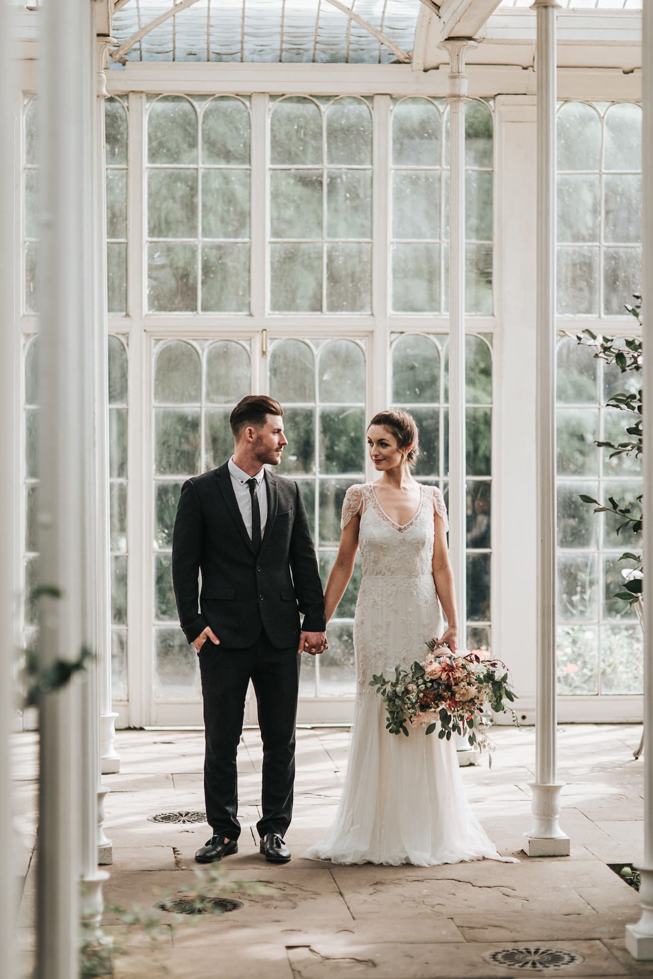 Greenhouse Romance Wedding Inspiration Bride & Groom | Image: Pear & Bear Photography