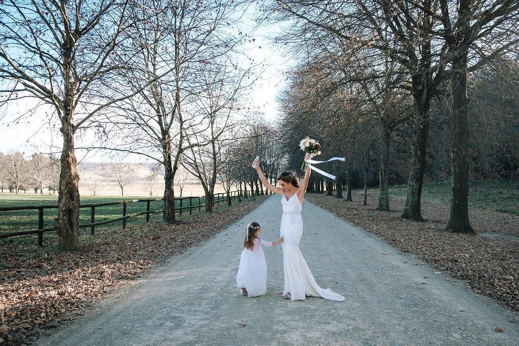 Bride & Flower Girl | Image: The Shank Tank