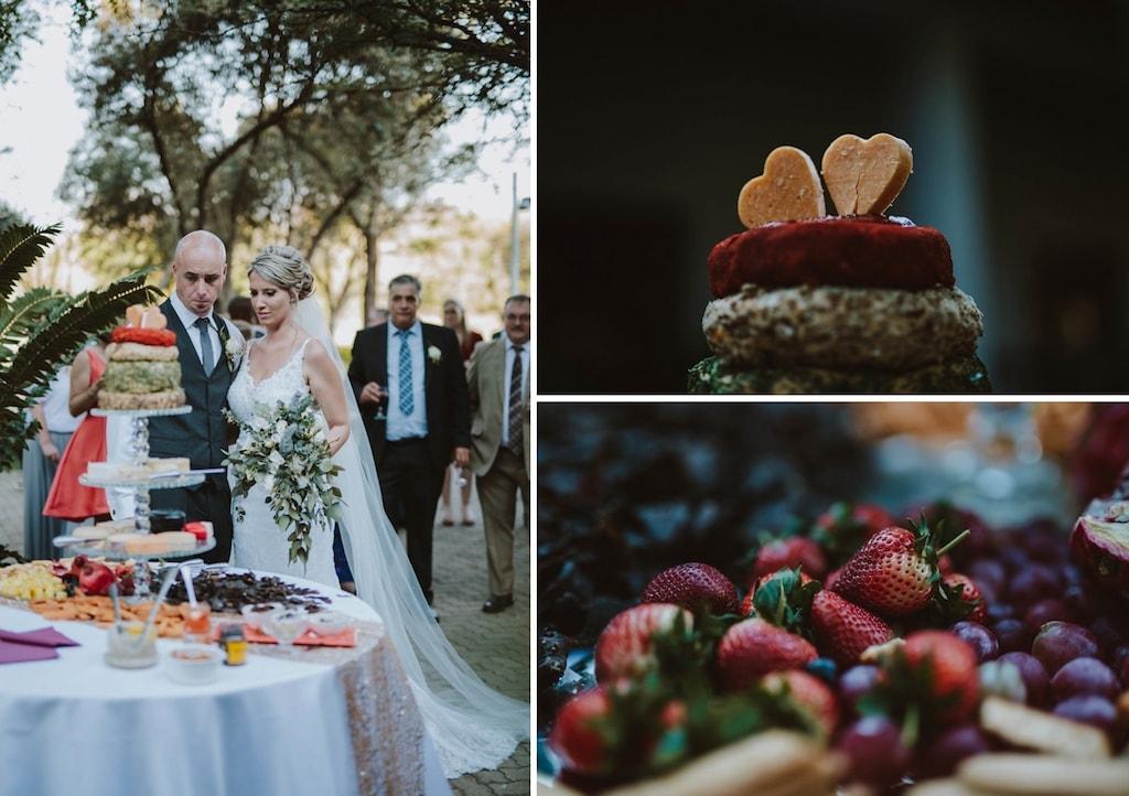 Cheese Wheel Wedding Cake | Image: Jessica J Photography