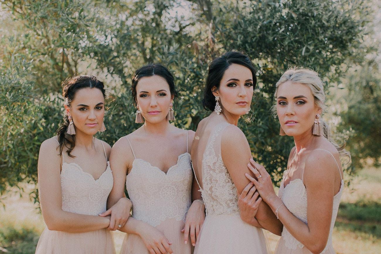 Bridesmaids Tassel Earrings | Image: Michelle du Toit