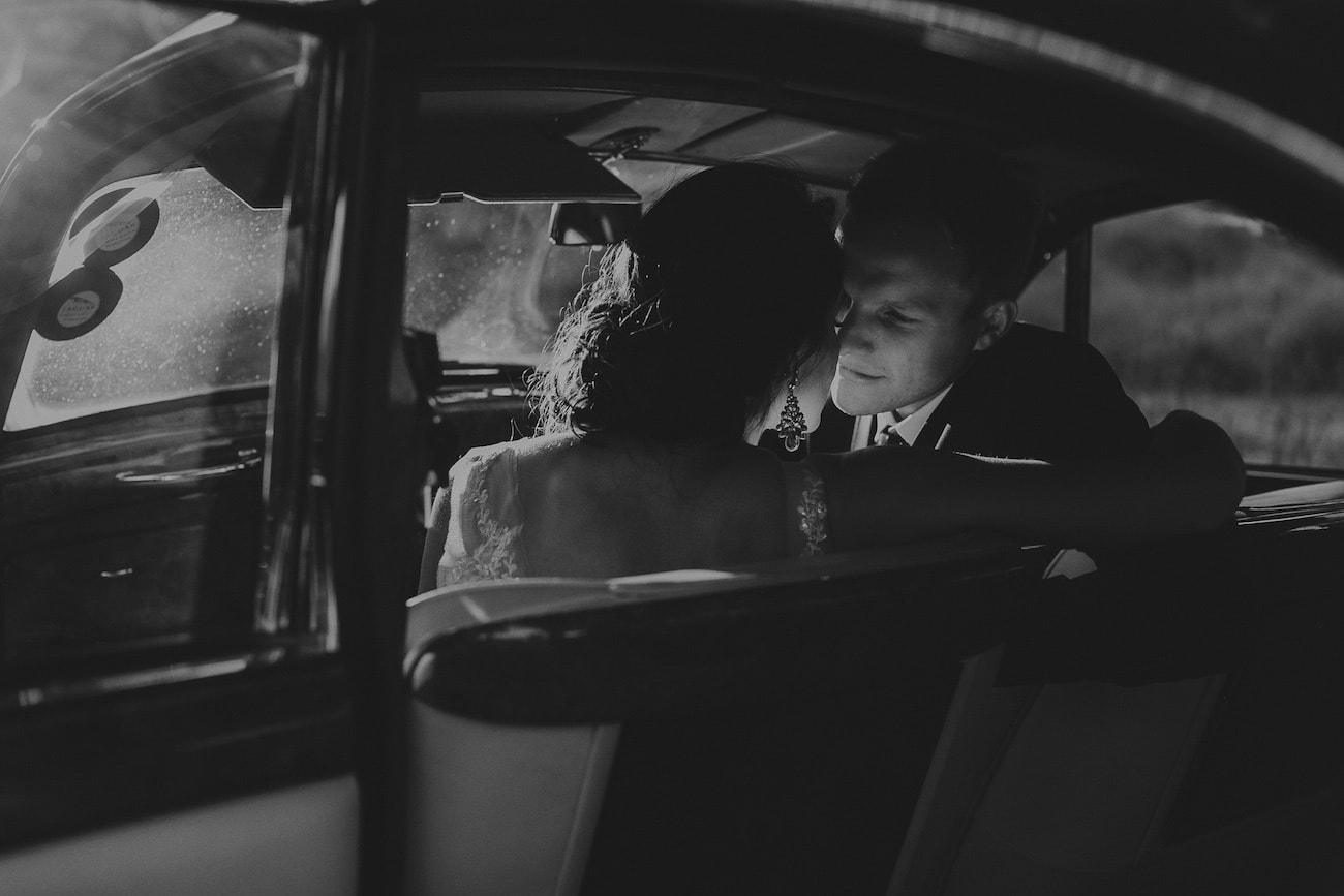 Bride & Groom in Car | Image: Michelle du Toit