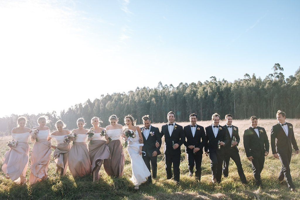 Winter Wedding Bridal Party | Image: The Shank Tank
