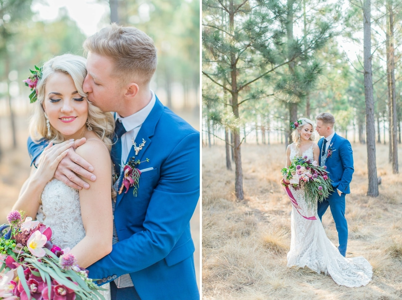 Groom in Blue Suit | Image: Grace Studios