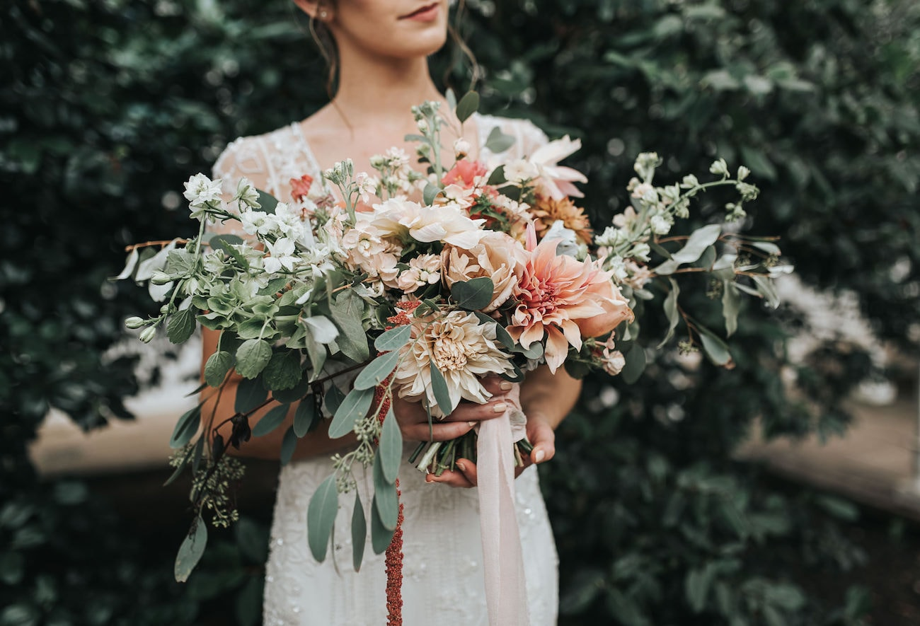 Fine Art Wedding Bouquet | Image: Pear & Bear Photography