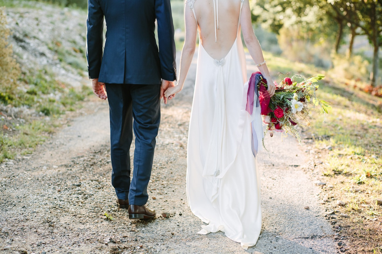 Bride & Groom at Whimsical Rustic Wedding | Image: Tasha Seccombe