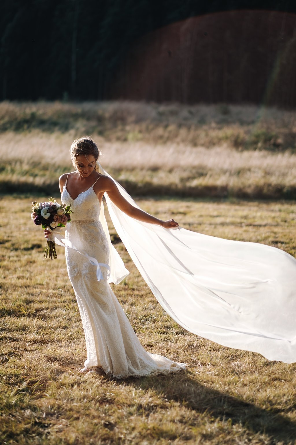 Lace Wedding Ceremony Dress with Spaghetti Straps | Image: The Shank Tank