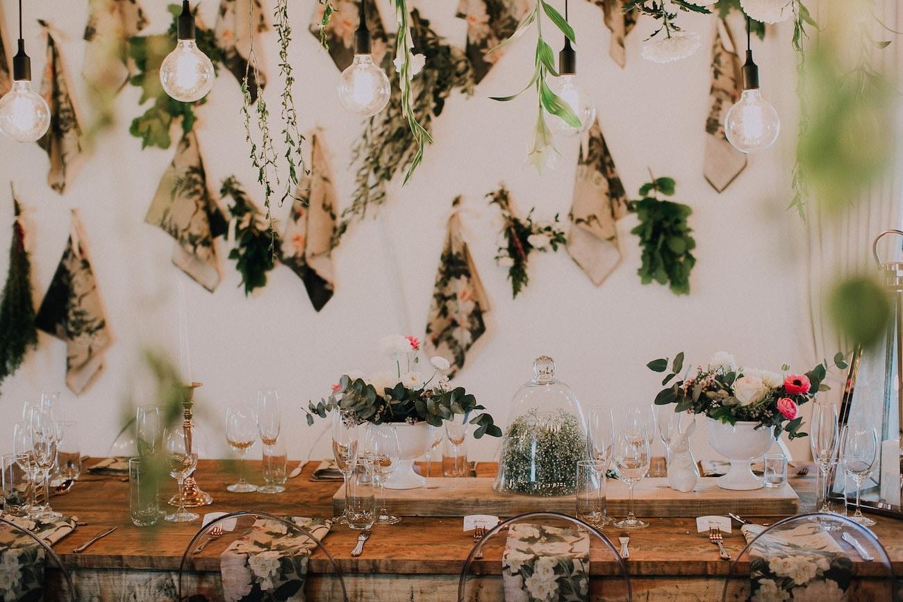 Hanging Botanical Print Installation | Image: Michelle du Toit
