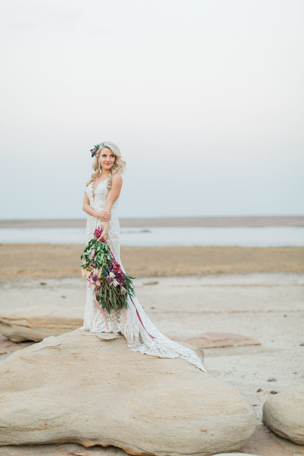 Beautiful Lace Wedding Dress | Image: Grace Studios