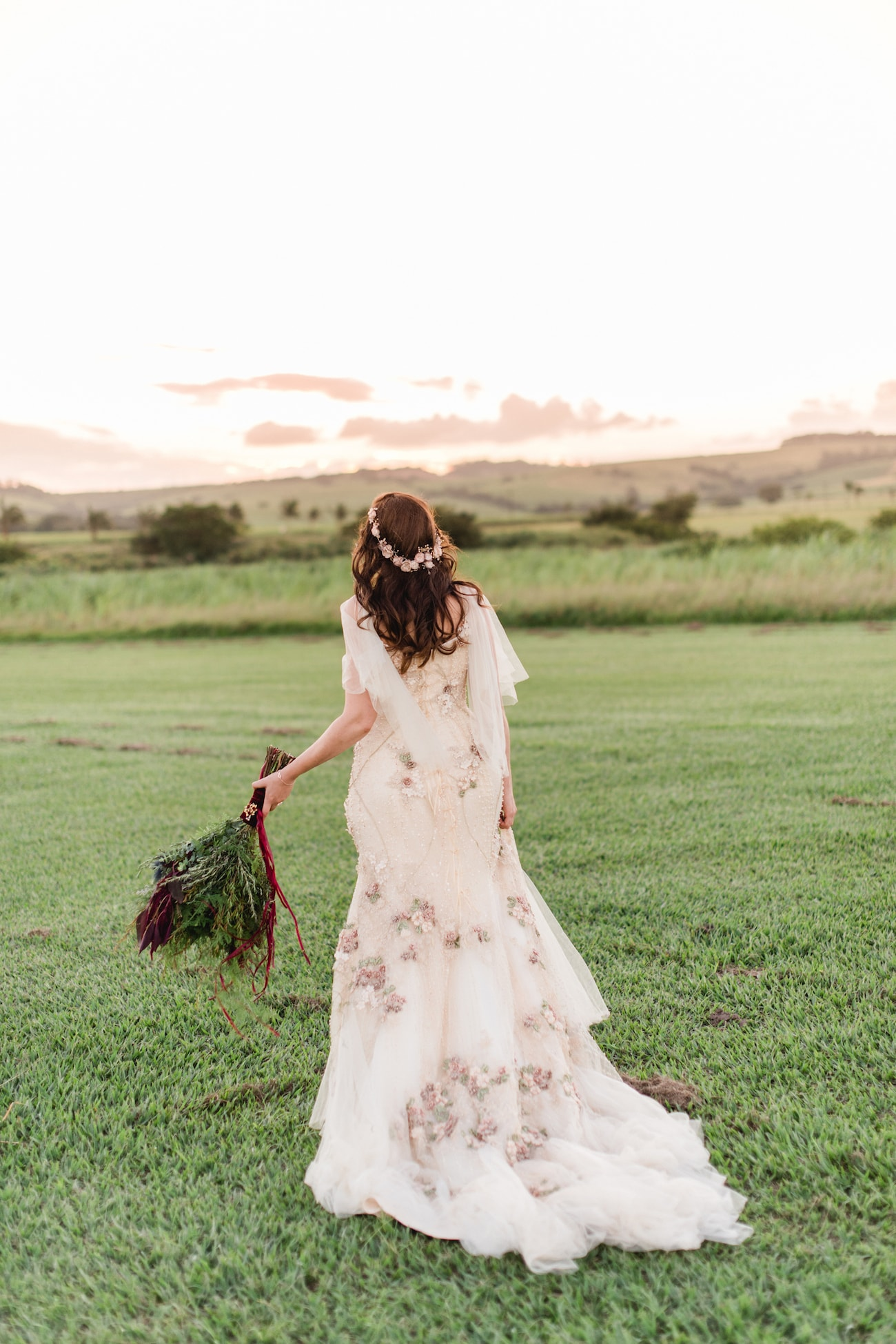 Incredible Floral McCarthyWolff Wedding Dress | Image: Roxanne Davison
